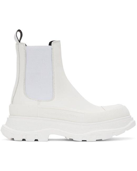 Alexander McQueen ホワイト Tread Slick チェルシー ブーツ White