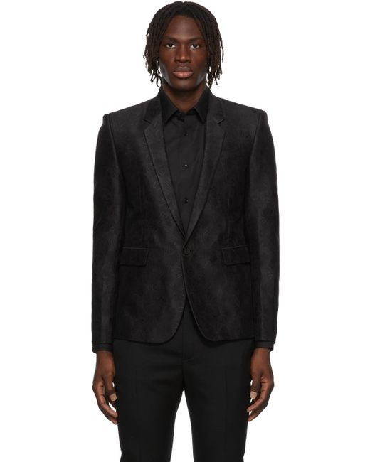 メンズ Saint Laurent ブラック テーラード ブレザー Black