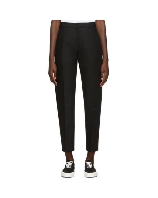 Maison Kitsuné Black Masculine Trousers