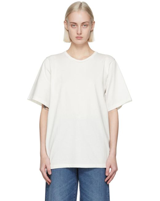 Totême  ホワイト オーガニック コットン オーバーサイズ T シャツ White