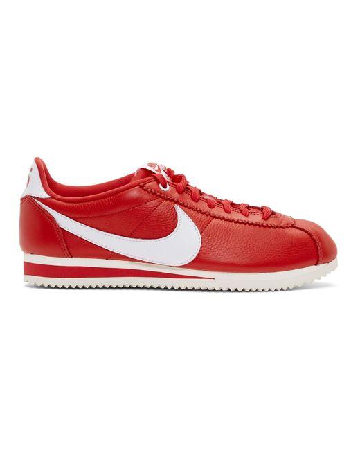 メンズ Nike Stranger Things Edition レッド クラシック コルテッツ Qs スニーカー Red