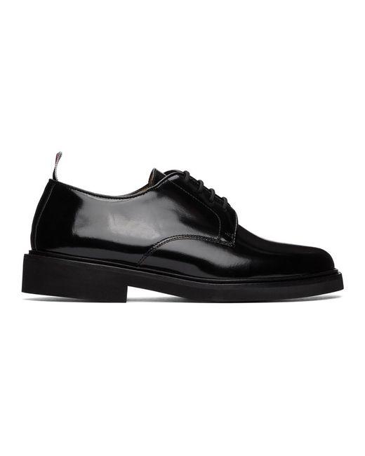 メンズ Thom Browne ブラック Uniform ダービー Black