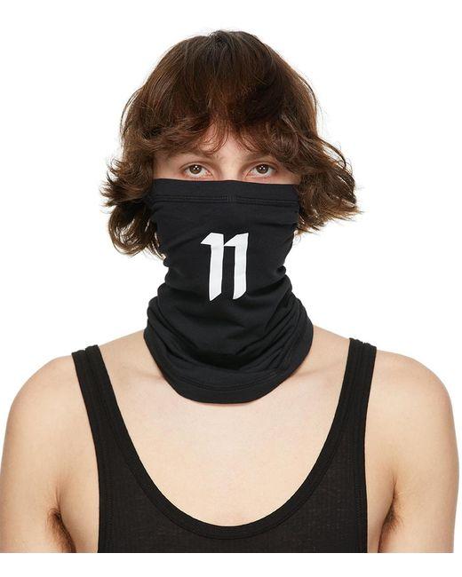 メンズ Boris Bidjan Saberi 11 ブラック & ホワイト Braga1 11 ロゴ スヌード Black