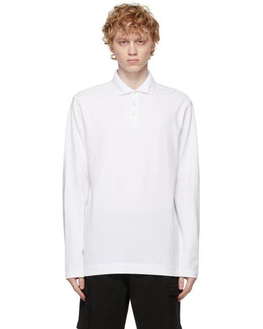 メンズ Z Zegna ホワイト ロング スリーブ ポロシャツ White