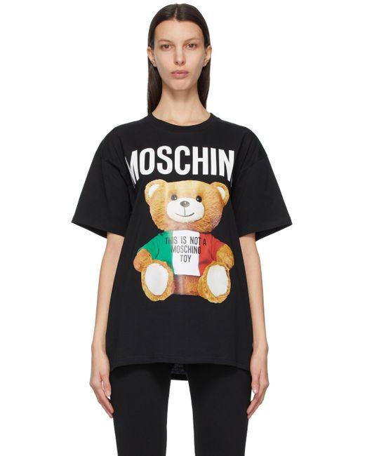 Moschino ブラック Italian Teddy Bear T シャツ Black