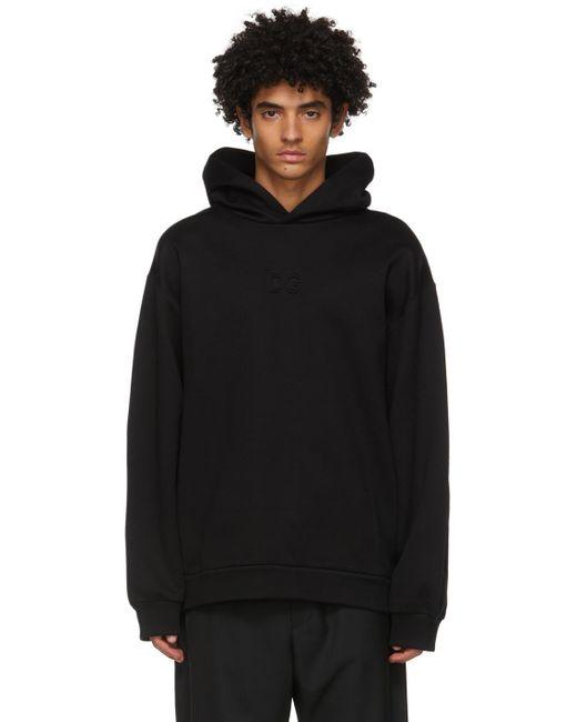 メンズ Dolce & Gabbana ブラック 3d ロゴ フーディ Black