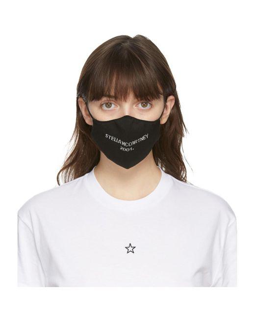 Stella McCartney ブラック ロゴ フェイス マスク Black