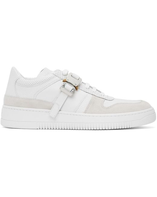 1017 ALYX 9SM White Leather Buckle Sneakers for men