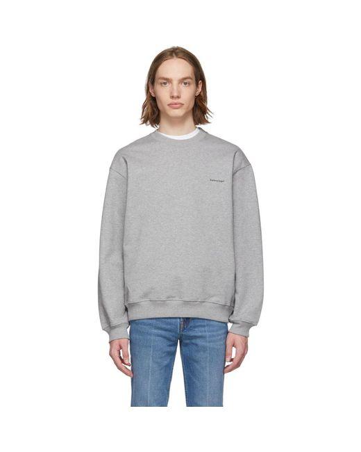Balenciaga Gray Grey ® Sweatshirt for men