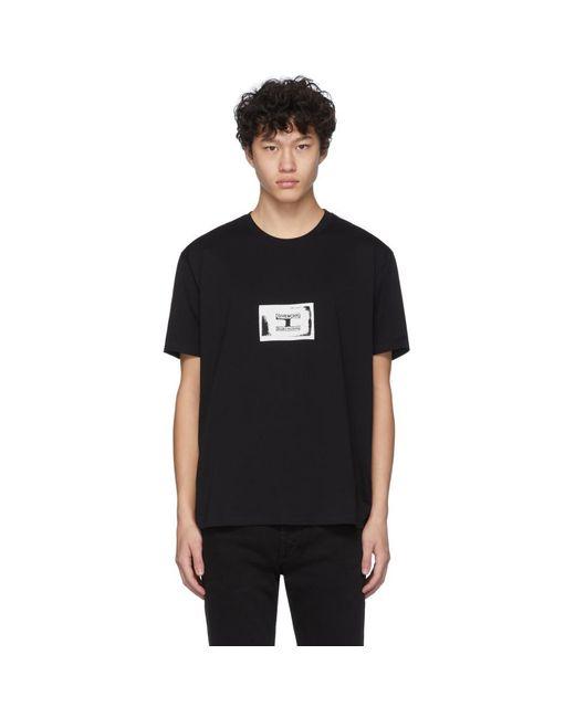 メンズ Givenchy ブラック スタンプ パッチ T シャツ Black