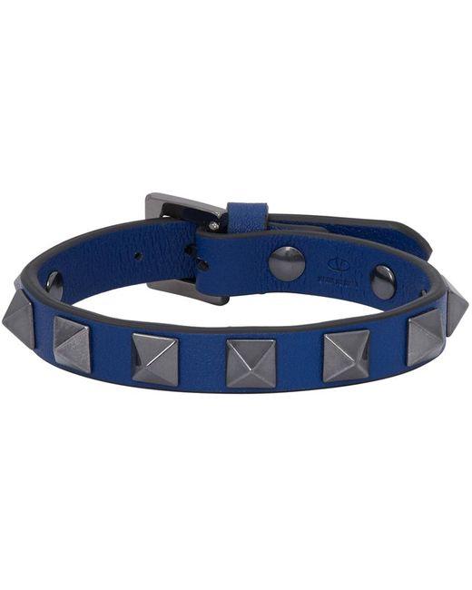 メンズ Valentino Garavani コレクション ブルー Rockstud ブレスレット Blue