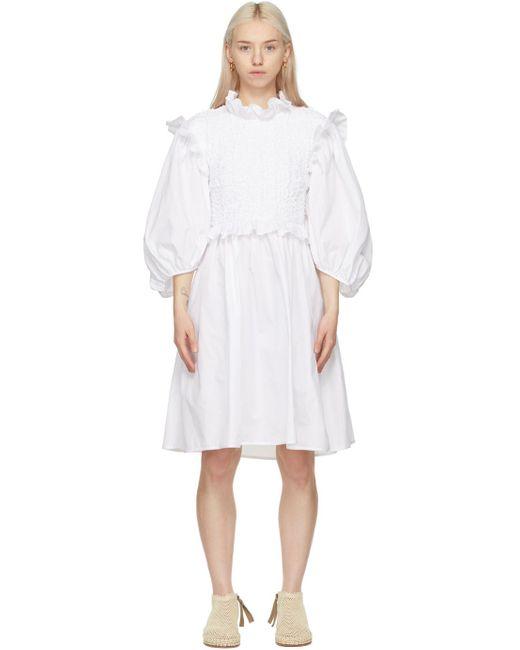 CECILIE BAHNSEN Ssense 限定 ホワイト Cora ドレス White