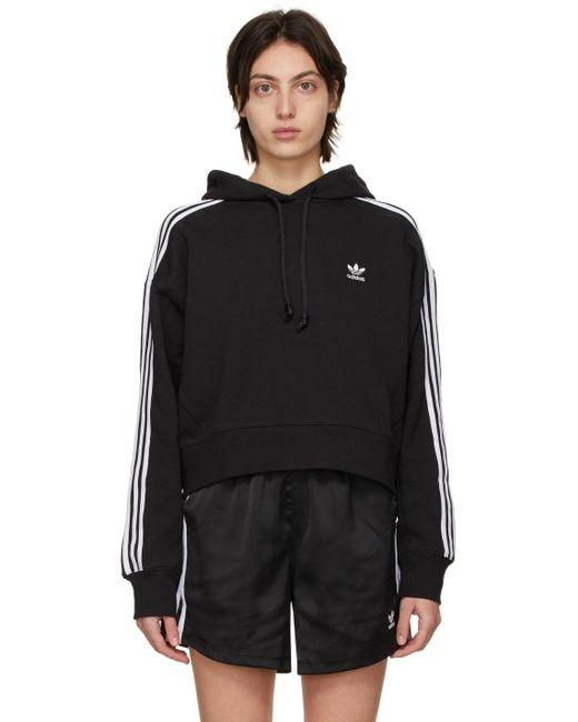 Adidas Originals ブラック Adicolor Classics Crop フーディ Black