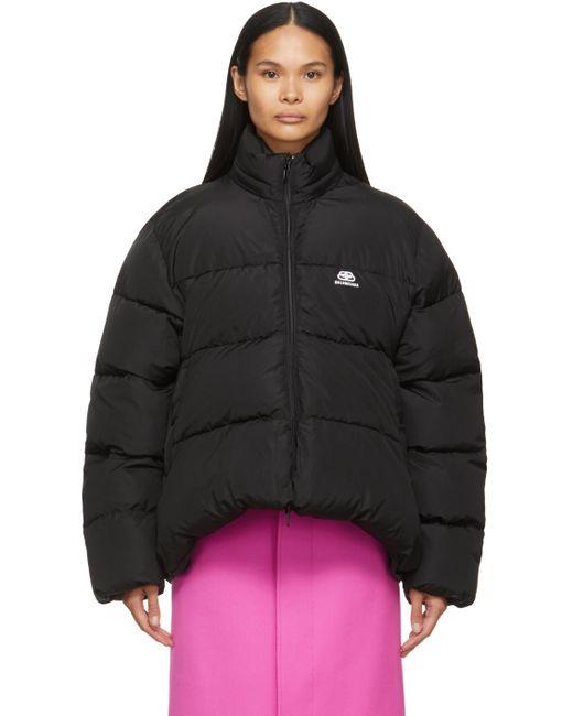 Balenciaga ブラック Bb C-shape パファー ジャケット Black