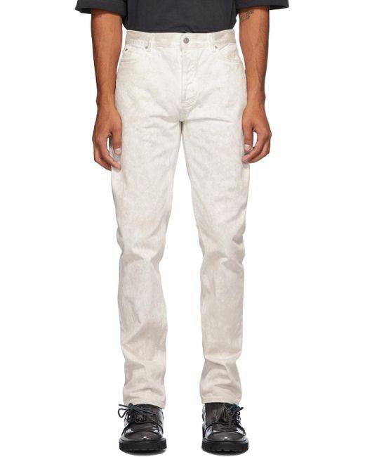 メンズ Maison Margiela ホワイト マーブル ジーンズ White