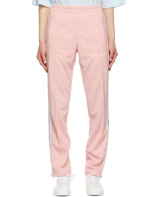 Palm Angels ピンク & ホワイト トラック ラウンジ パンツ Pink