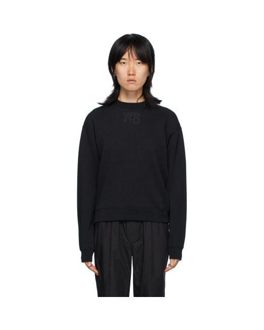 T By Alexander Wang ブラック Foundation テリー スウェットシャツ Black