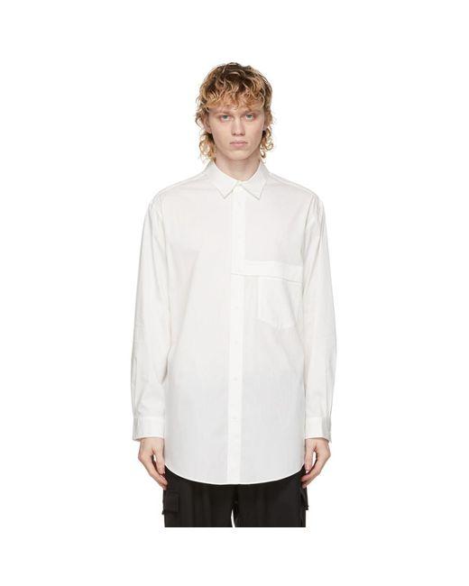 メンズ Y-3 ホワイト シャツ White