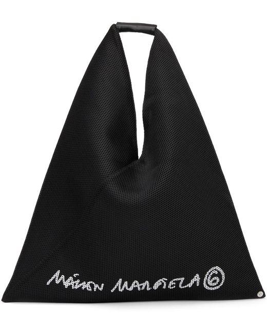 MM6 by Maison Martin Margiela ブラック ロゴ トライアングル トート Black