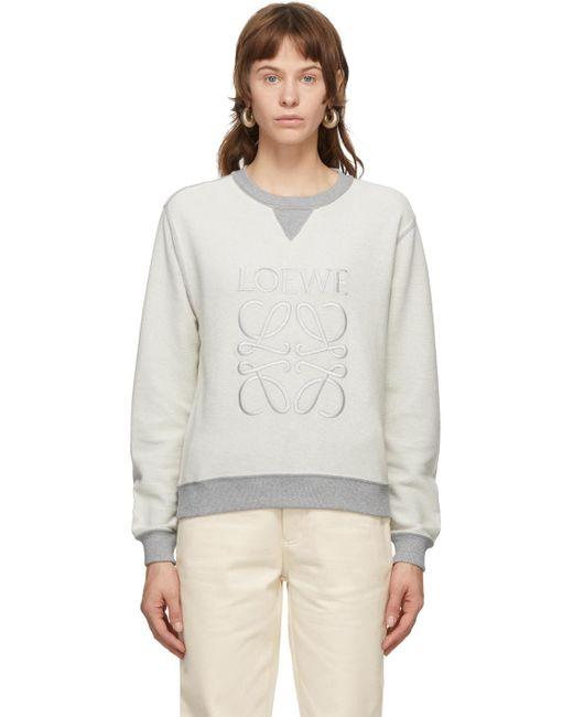 Loewe グレー アナグラム スウェットシャツ Gray