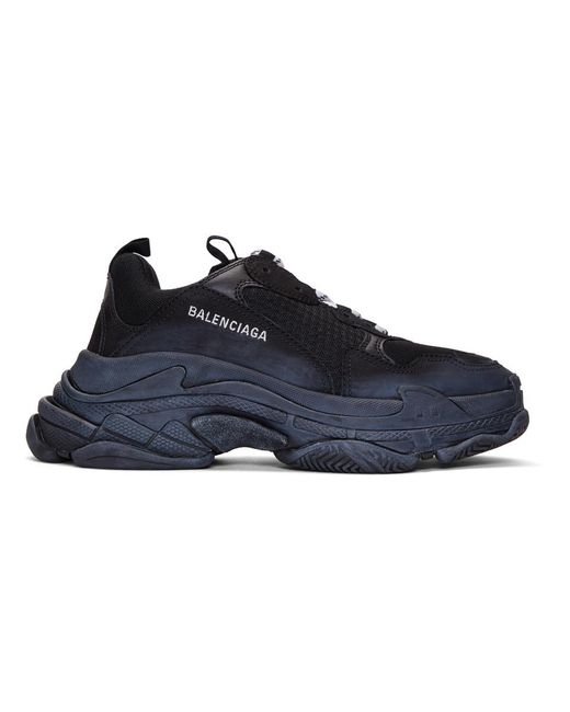 Balenciaga Black Triple S Sneakers for men