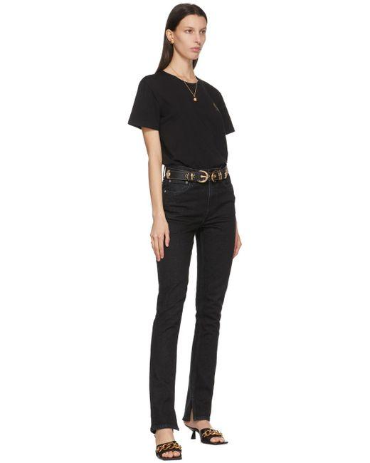Versace Jeans ブラック ダブル バックル ベルト Black