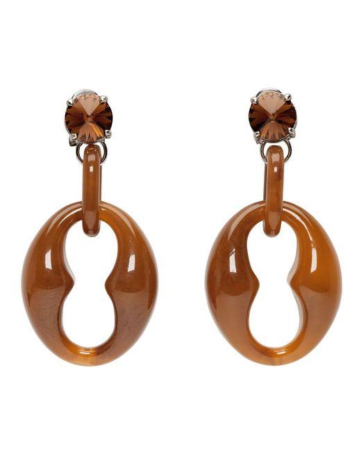 Prada Multicolor Brown Chunky Earrings