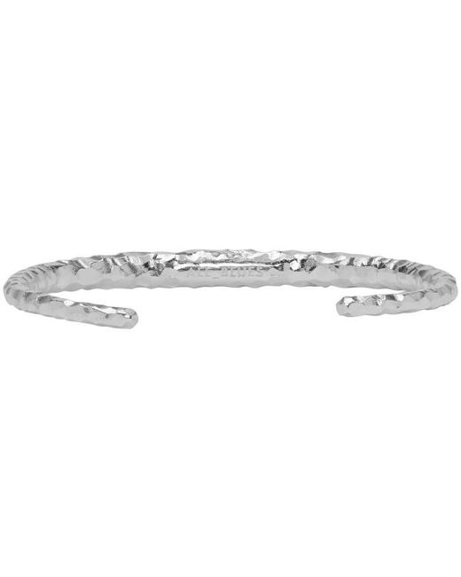 All_blues | Metallic Silver Fat Snake Bracelet for Men | Lyst