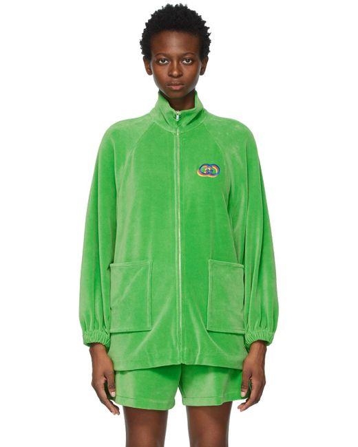 Gucci グリーン ジップアップ セーター Green