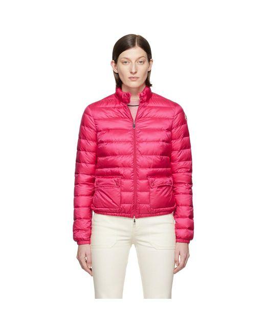 Blouson en duvet rose Lans Moncler en coloris Pink