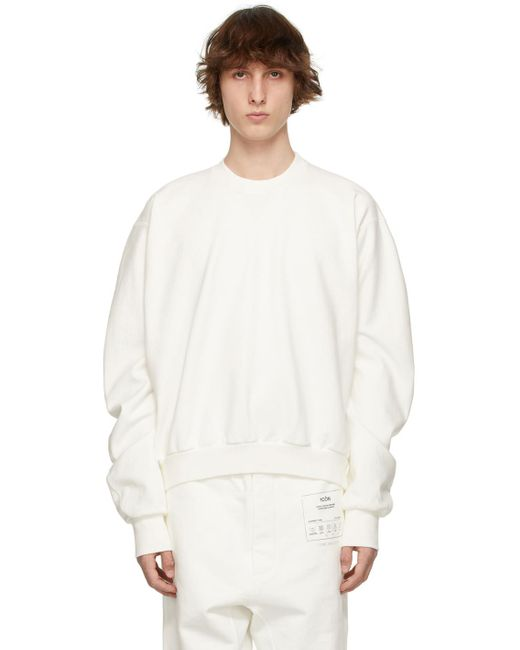 メンズ Maison Margiela ホワイト スウェットシャツ White