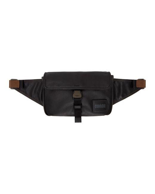 メンズ COACH ブラック Pacer ベルト バッグ Black