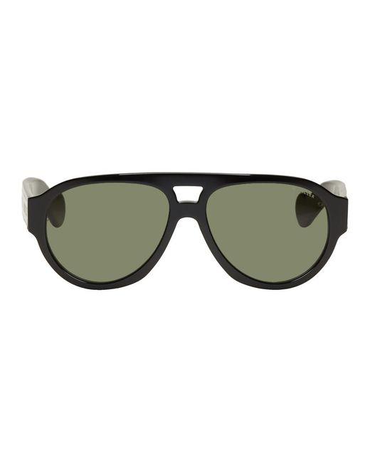 メンズ Moncler ブラック 0095 サングラス Black