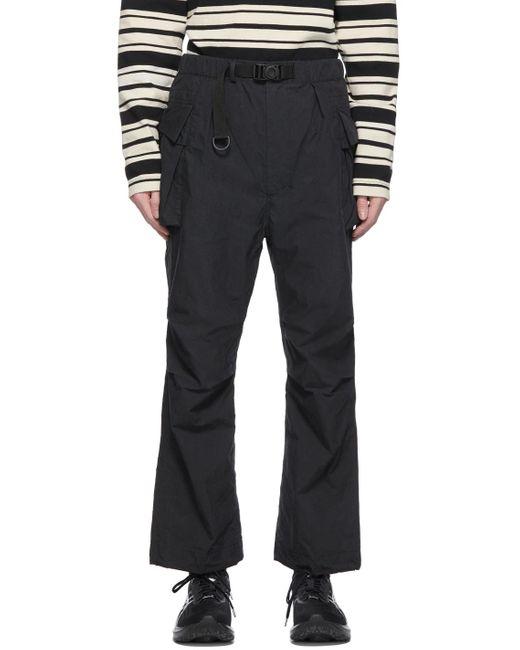 メンズ Snow Peak ブラック C/n カーゴ パンツ Black