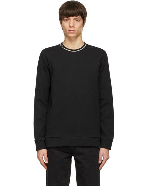 メンズ A.P.C. ブラック Earl スウェットシャツ Black