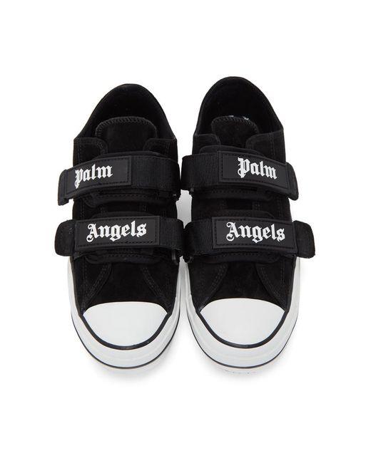 メンズ Palm Angels ブラック バルカナイズ スニーカー Black