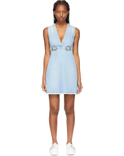 Versace Jeans ブルー ミニ ドレス Blue