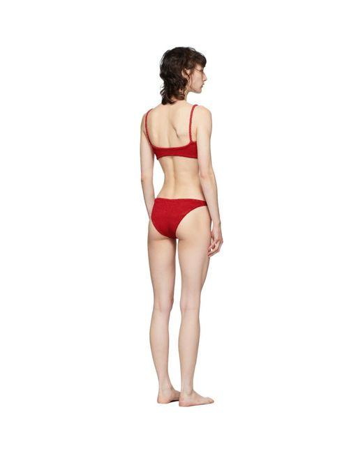 Hunza G Women's Red Trina Bikini