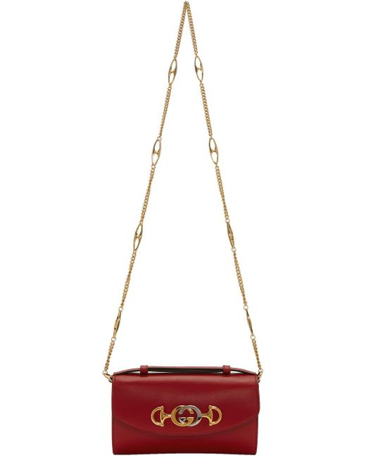 Gucci レッド ミニ ズゥミ バッグ Red