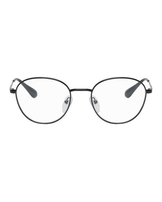 Prada Multicolor Black Round Glasses for men
