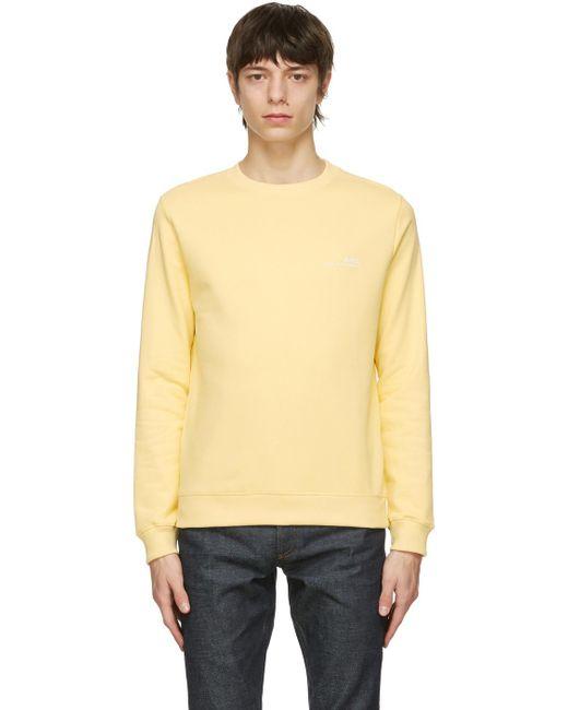 メンズ A.P.C. イエロー Item スウェットシャツ Yellow