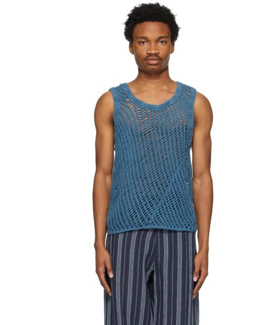メンズ Nicholas Daley ブルー Garment-dyed ベスト Blue