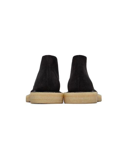 メンズ Jil Sander ブラック デザート アンクル ブーツ Black
