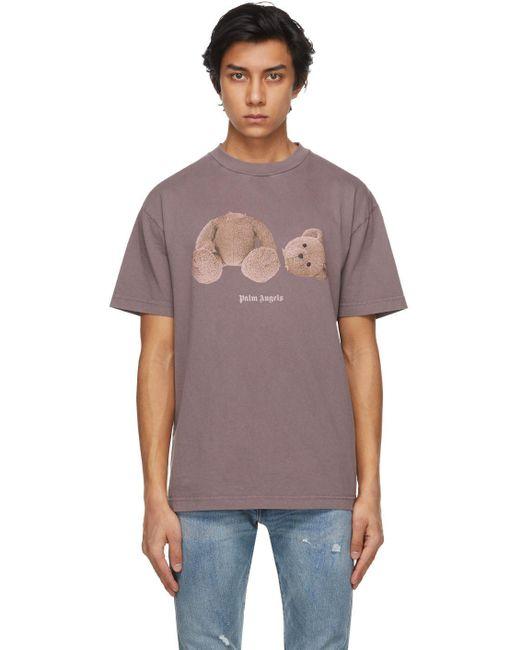 メンズ Palm Angels パープル Bear T シャツ Purple