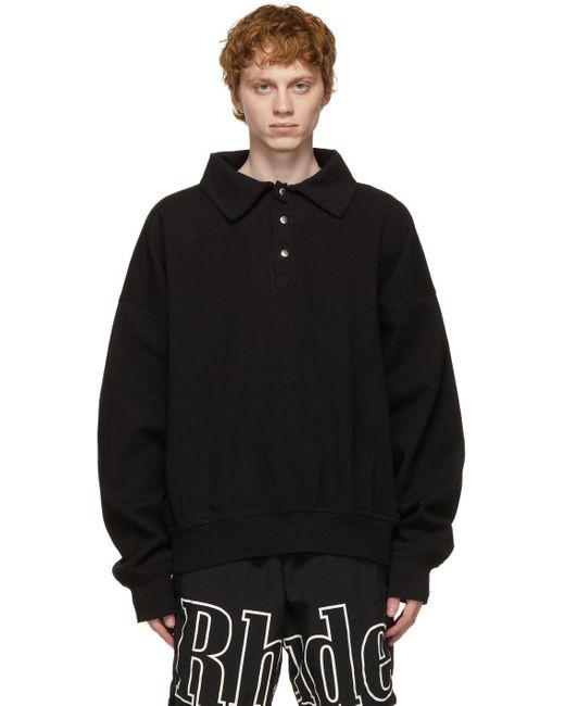 メンズ Rhude ブラック Rhacer Ivy スウェットシャツ Black
