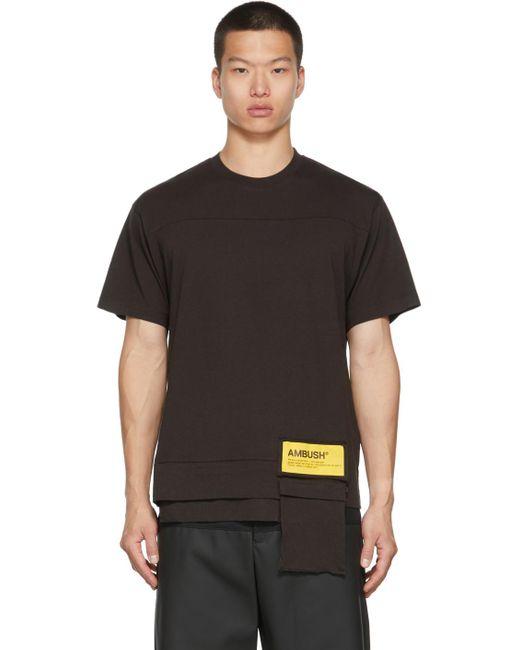 メンズ Ambush ブラウン Waist Pocket T シャツ Brown