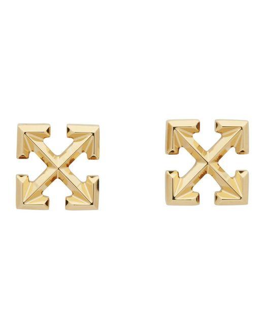 Off-White c/o Virgil Abloh Metallic Arrows Stud Earrings