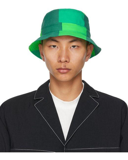 メンズ Sunnei グリーン プリント バケット ハット Green