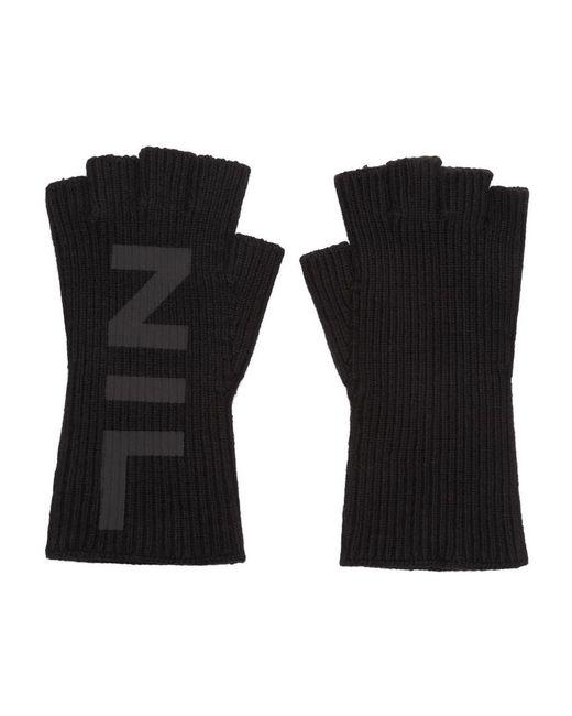 Gants sans doigts noirs Nilos Julius pour homme en coloris Black