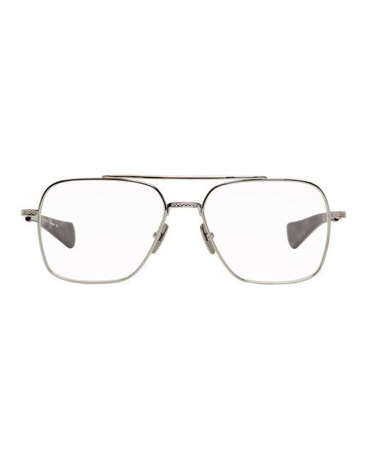 メンズ Dita Eyewear シルバー And ブラック Flight-seven メガネ Metallic